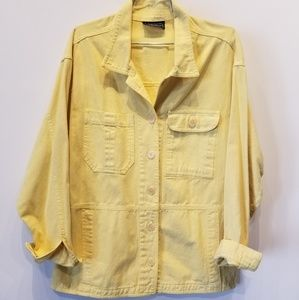 CAbi Vintage Carol Anderson Yellow Denim Jacket